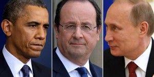 Hollande se reunirá con Obama y Putin