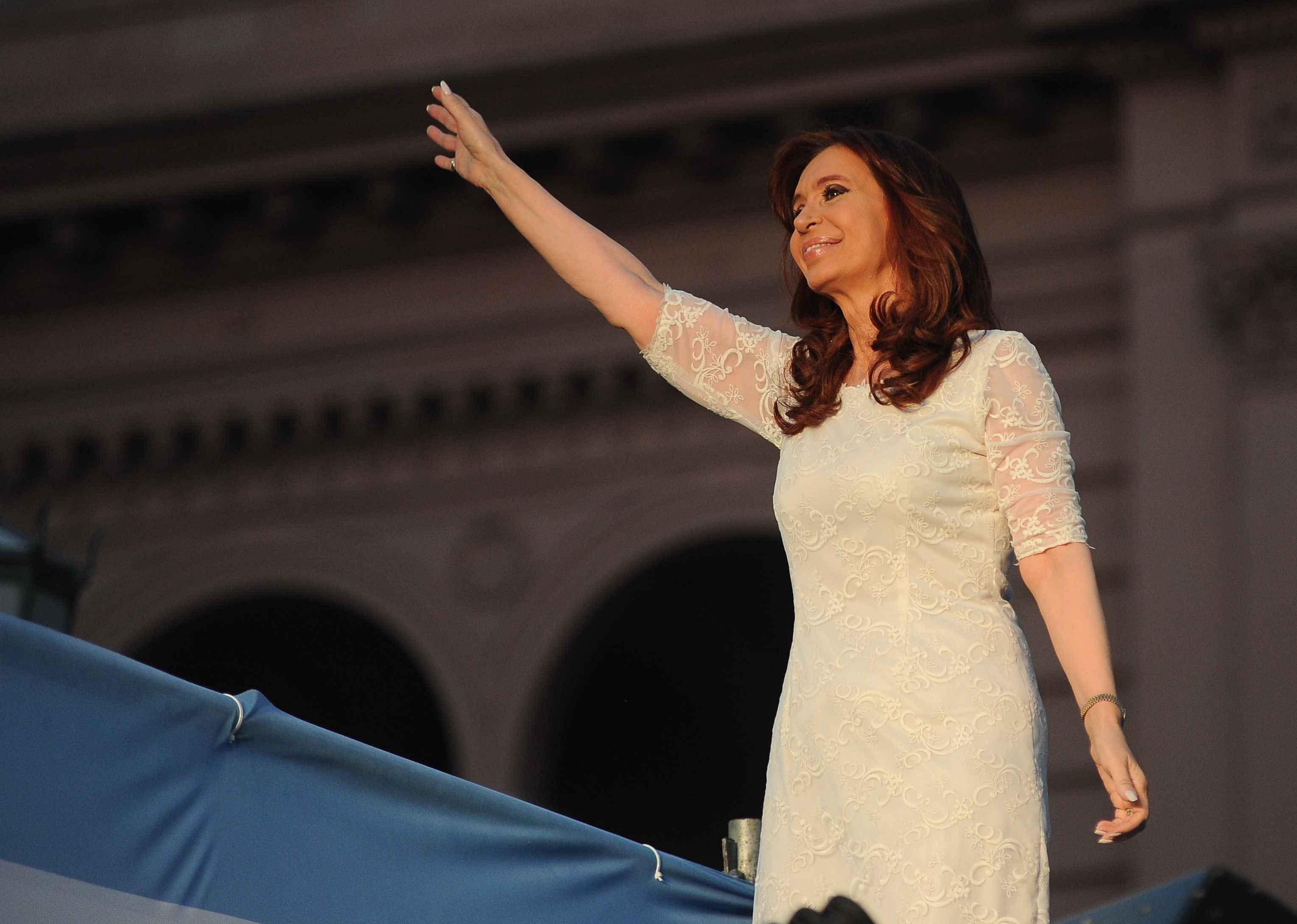 Cristina Fernández se despide en Plaza de Mayo