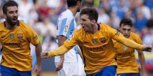 Barcelona se impone al Malaga y sigue como líder en La Liga