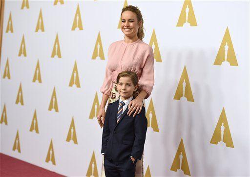 Brie Larson y Jacob Tremblay. Foto de AP