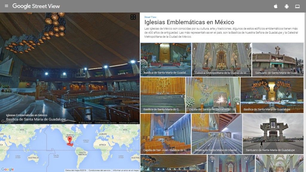 Así se ve el portal de Google Street View.