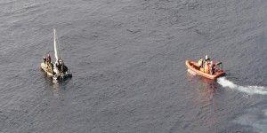 Rescatan a 16 migrantes en Golfo de México