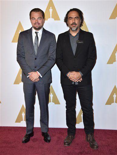 Leonardo DiCaprio y Alejandro González Iñárritu. Foto de AP