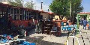 Entran a robar e incendian escuela primaria en Tamaulipas