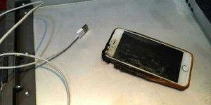 iPhone 6 se incendia en pleno vuelo
