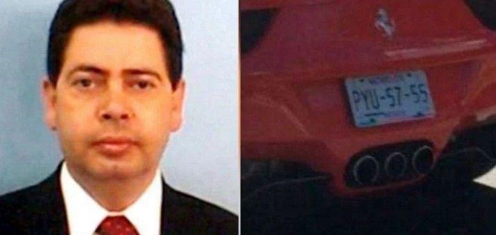 Alberto Sentíes, dueño del Ferrari rojo