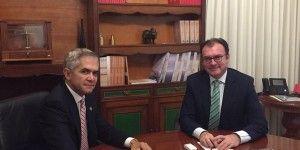 Se reúnen Videgaray y Mancera por financiamiento al transporte capitalino