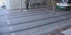 Ciudades alemanas incorporan semáforos en el suelo
