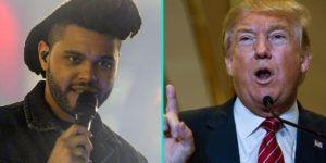 The Weeknd y Belly cancelan presentación en programa por Trump