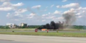 Video: aeronave se desploma durante acrobacia en Atlanta