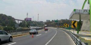 Reducen carriles en la Autopista Chamapa – La Venta