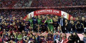 El Barcelona alza la Copa del Rey