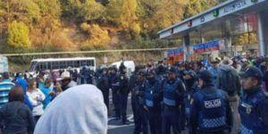 Se enfrentan CNTE y policías en Chiapas