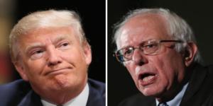 Bernie Sanders se burla de Donald Trump