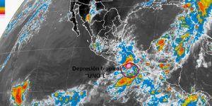 Se forma primera depresión tropical de la temporada en el Pacífico