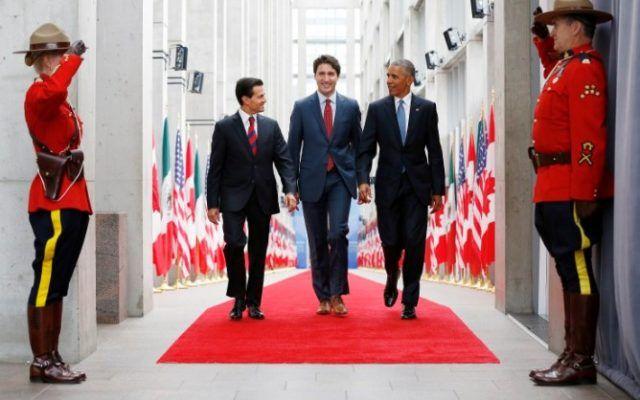 EPN Trudeau Obama Amigos