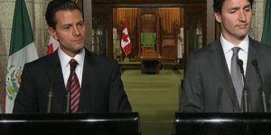 EPN y Justin Trudeau acuerdan estrechar comunicación