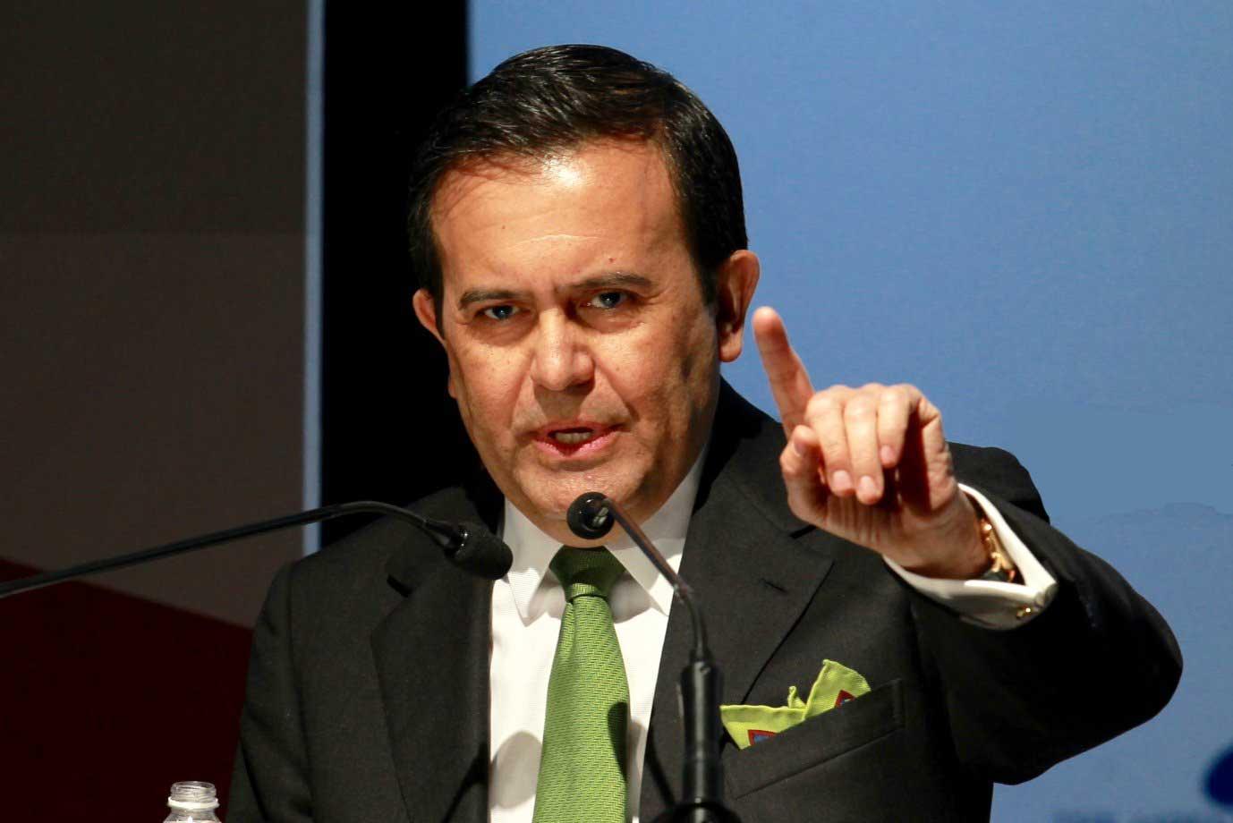 Secretario de Economía Ildefonso Guajardo Villarreal. Foto de El Horizonte