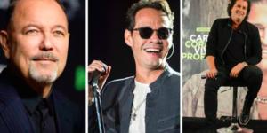 Marc Anthony, Carlos Vives y Rubén Blades en concierto en el Zócalo