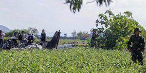 Se estrella helicóptero de la Fuerza Aérea Mexicana