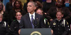 Obama rinde tributo a policías asesinados en Dallas