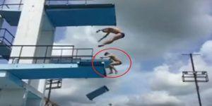 Video: plataforma se rompe durante entrenamiento de clavadistas