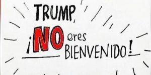 Convocan a manifestación contra visita de Donald Trump
