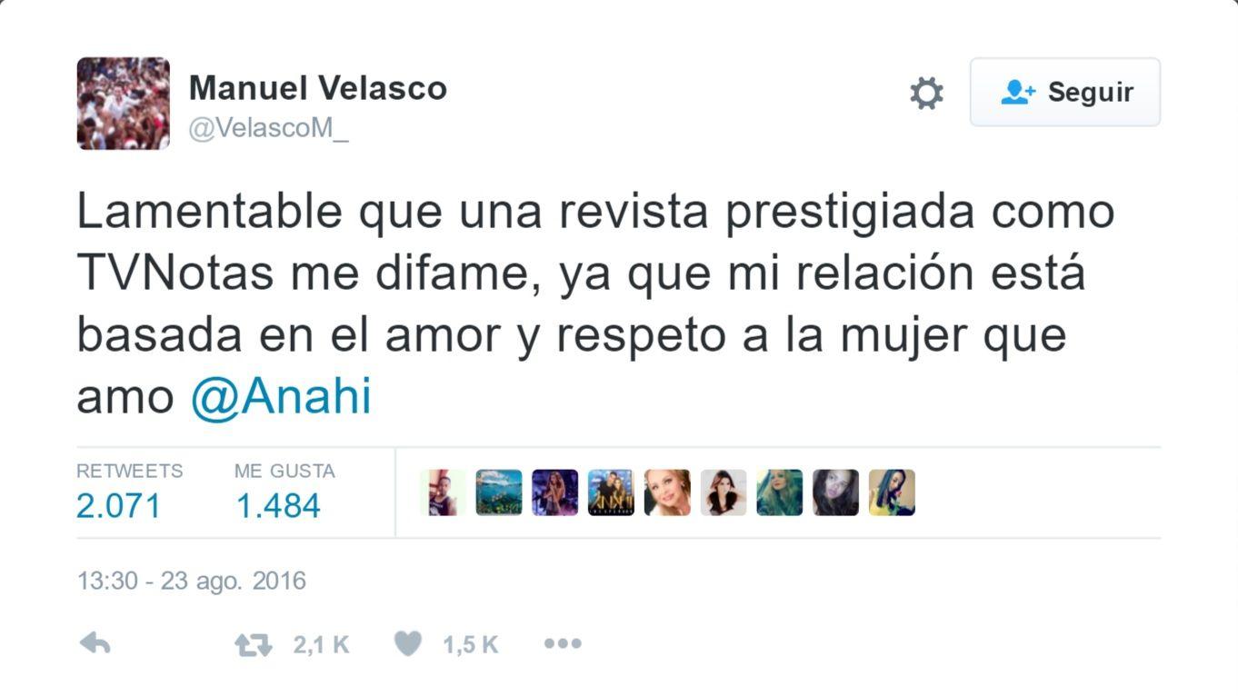 Tuit ANahi Manuel Velasco