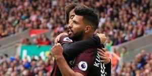 Sin pisar el acelerador, el Manchester City golea al Stoke