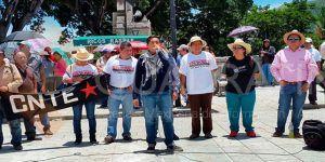 Concluyó marcha de la CNTE en Oaxaca