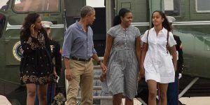 Regresan los Obama de sus vacaciones