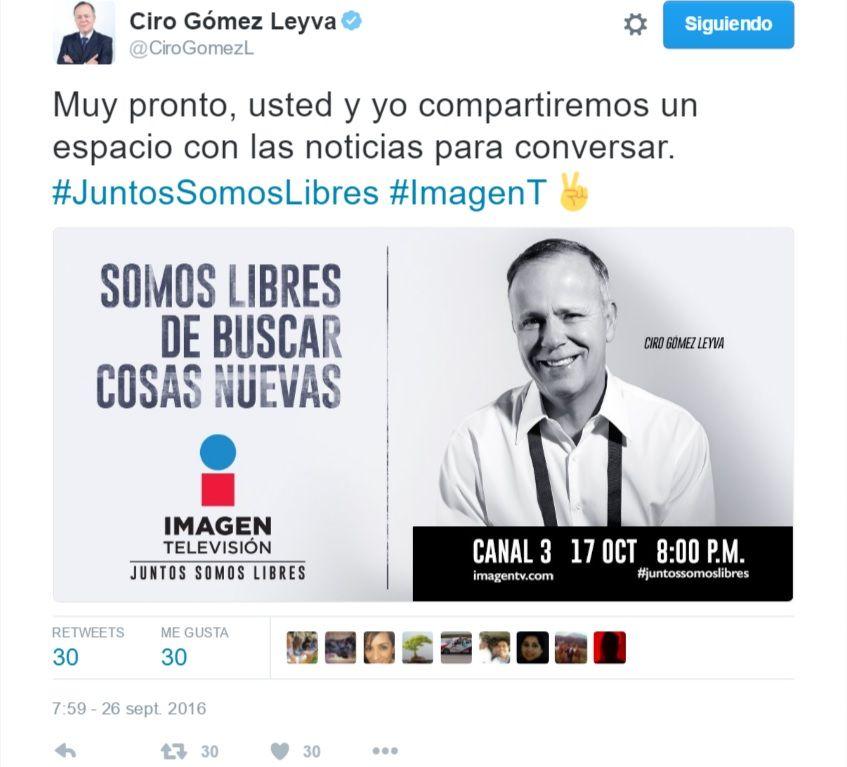 Imagen Televisión Ciro Gómez Leyva