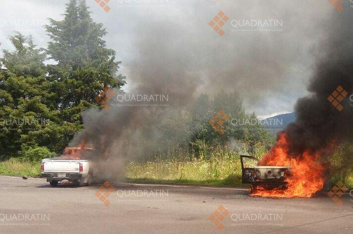 Son liberados 18 normalistas en Michoacán tras quemar automóviles