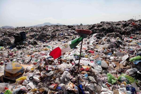 El manejo de basura de la Ciudad de México va en contra del acuerdo de París. Foto de Internet