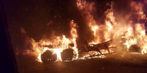 Se incendia tráiler tras choque en Nuevo León. Dos muertos