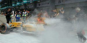 Video: se incendia auto de F1 de Kevin Magnussen