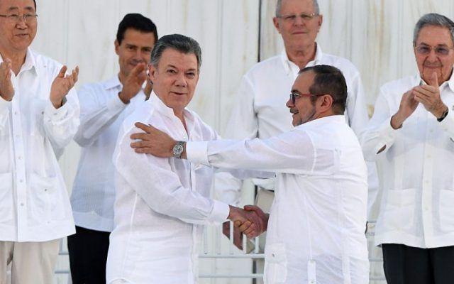 Firma de paz en Colombia