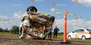 Volcadura en Guanajuato deja un muerto y dos lesionados