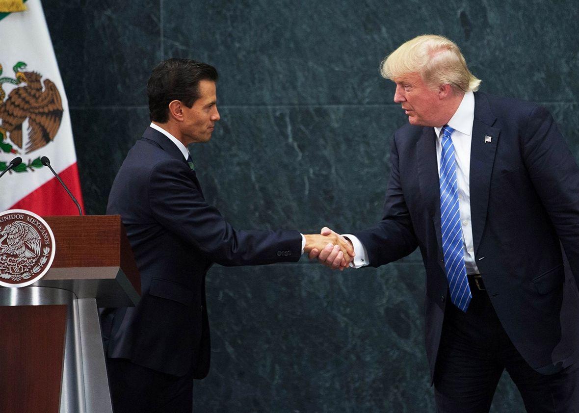 Enrique Peña Nieto y Donald Trump. Foto de Slate