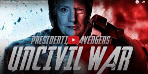 """Video: Clinton y Trump se enfrentan en """"Civil War"""""""