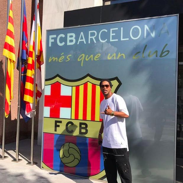 Ronaldinho subió esta foto a su cuenta de Instagram personal . Foto de Instagram