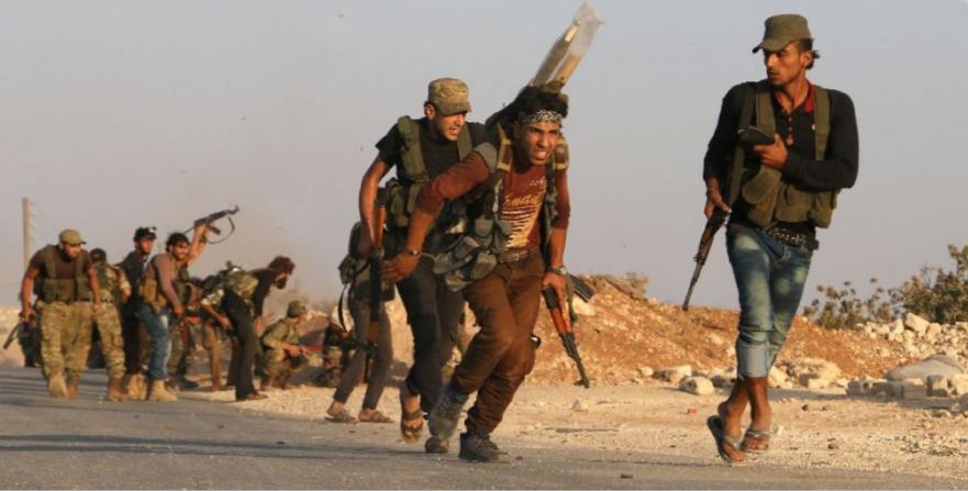 Rebeldes sirios apoyados por Turquía arrebatan a EI centro religioso