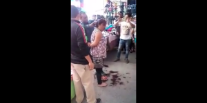 Video: cortan cabello a presunta ladrona en tianguis de León