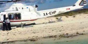 Denuncian ante Profepa aterrizaje de helicóptero en Arrecife Alacranes