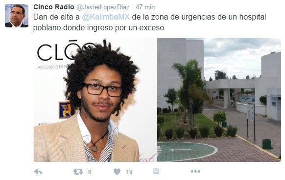 Hospitalizan a Kalimba en Puebla por una taquicardia