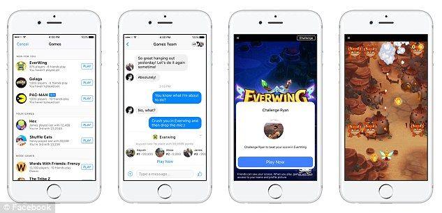 Los juegos estarán disponibles para los usuarios de Messenger. Foto de Facebook