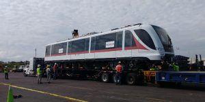 Llega a México desde España primer tren para Línea 3 de Guadalajara
