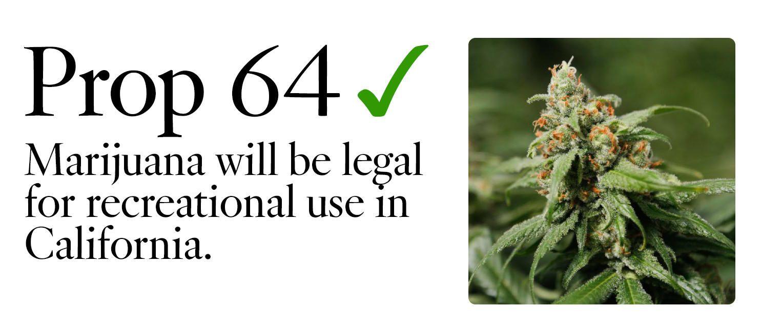 Resultado de imagen para aprobada propuesta para legalizar marihuana en california