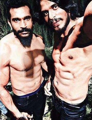 Anil Verma y Raghav Uday. Foto de Daily Mail