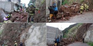 Desgaje de cerro daña dos casas en Iztapalapa